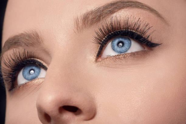 amazing blue eyes stock photo