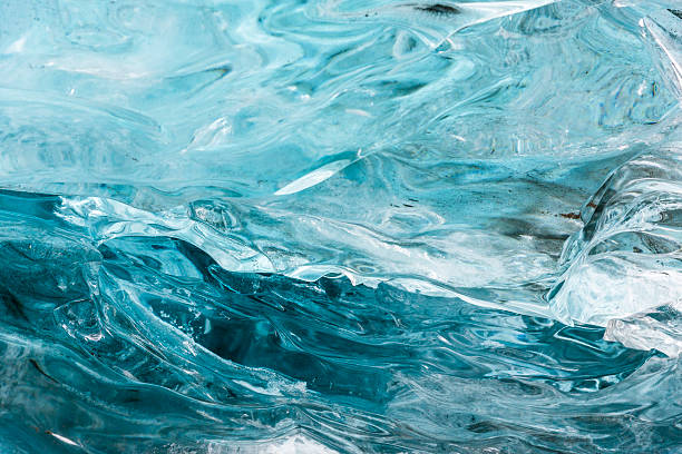 amazing blue ice textura wall in the cave. hofn. iceland - 빙하 뉴스 사진 이미지