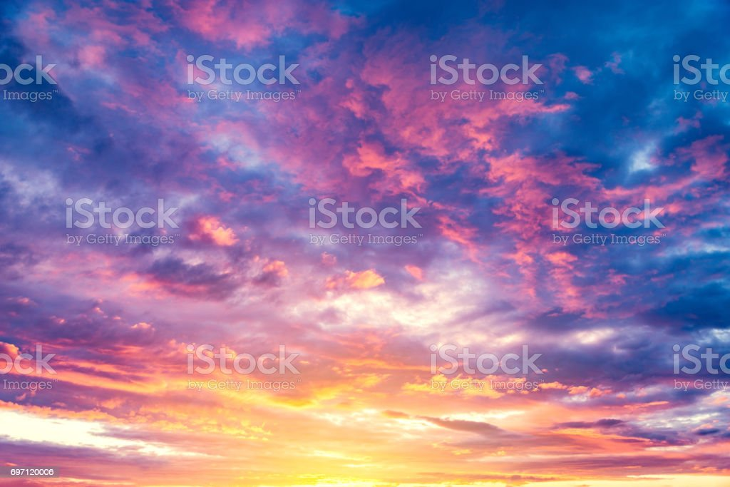 Amazing cloudscape on the sky. stock photo