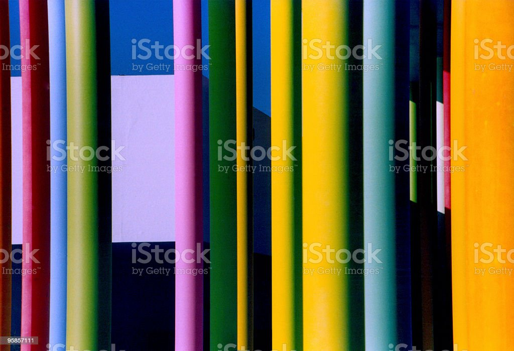 Amazing colourful pillars royalty-free stock photo