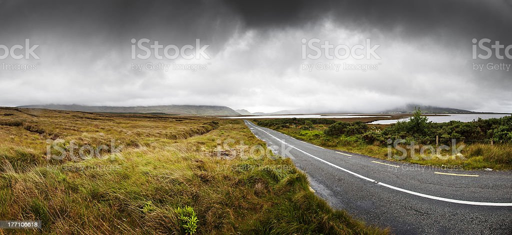 Amazing Country Highway in Connemara royalty-free stock photo