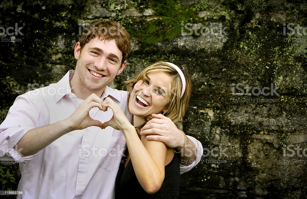 amazing couple portraits stock photo