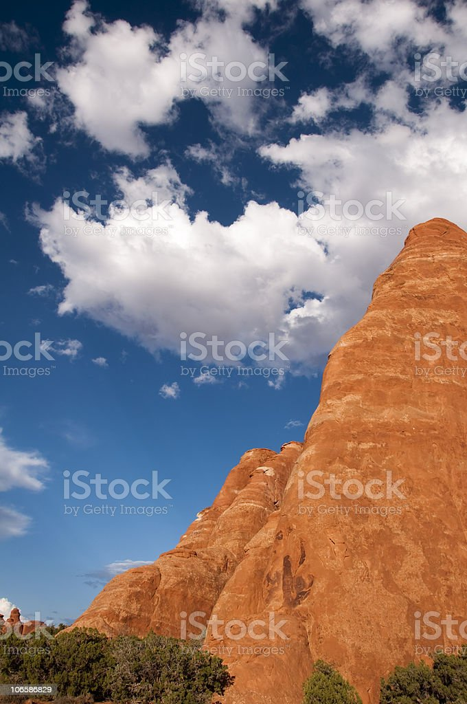 Amazing Day at Arches National Park stock photo