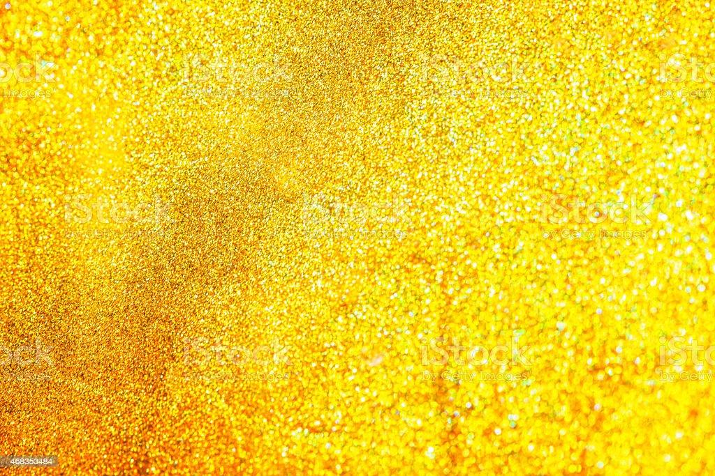 Amazing defocused golden sparkles background. royalty-free stock photo