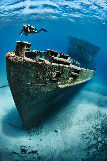 amazing discovery - shipwreck stock pictures, royalty-free photos & images