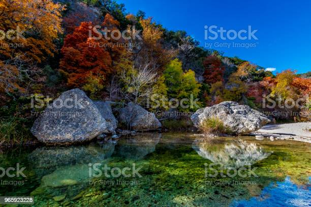 Photo of Amazing Fall Colors at Clear Pool in Lost Maples State Park, Texas