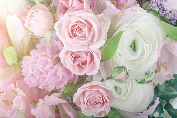 arrangement superbe bouquet de fleurs, gros plan - dessin au pastel photos et images de collection
