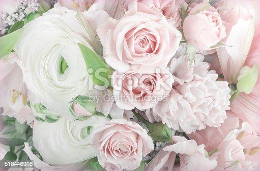 istock Amazing flower bouquet arrangement close up 516446916
