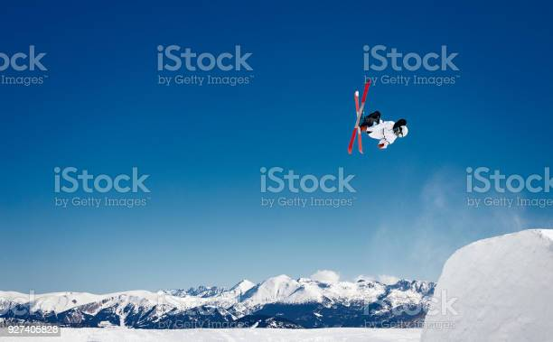 Photo of Amazing freestyle skiing jumps in the Pyrenees mountains