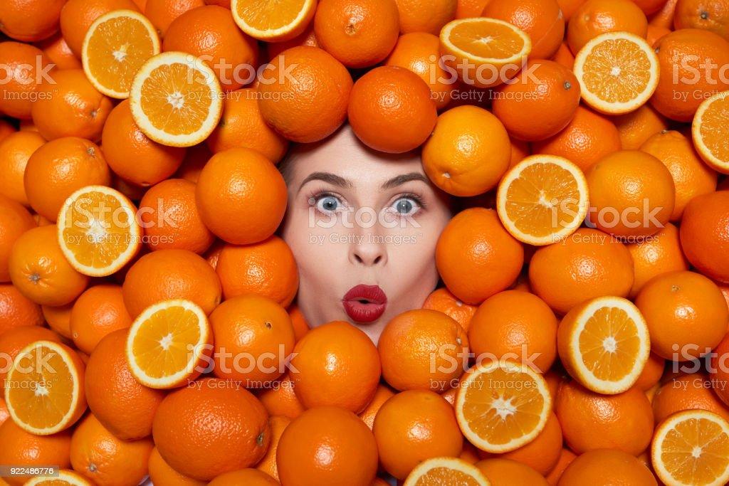 amazing fresh oranges stock photo