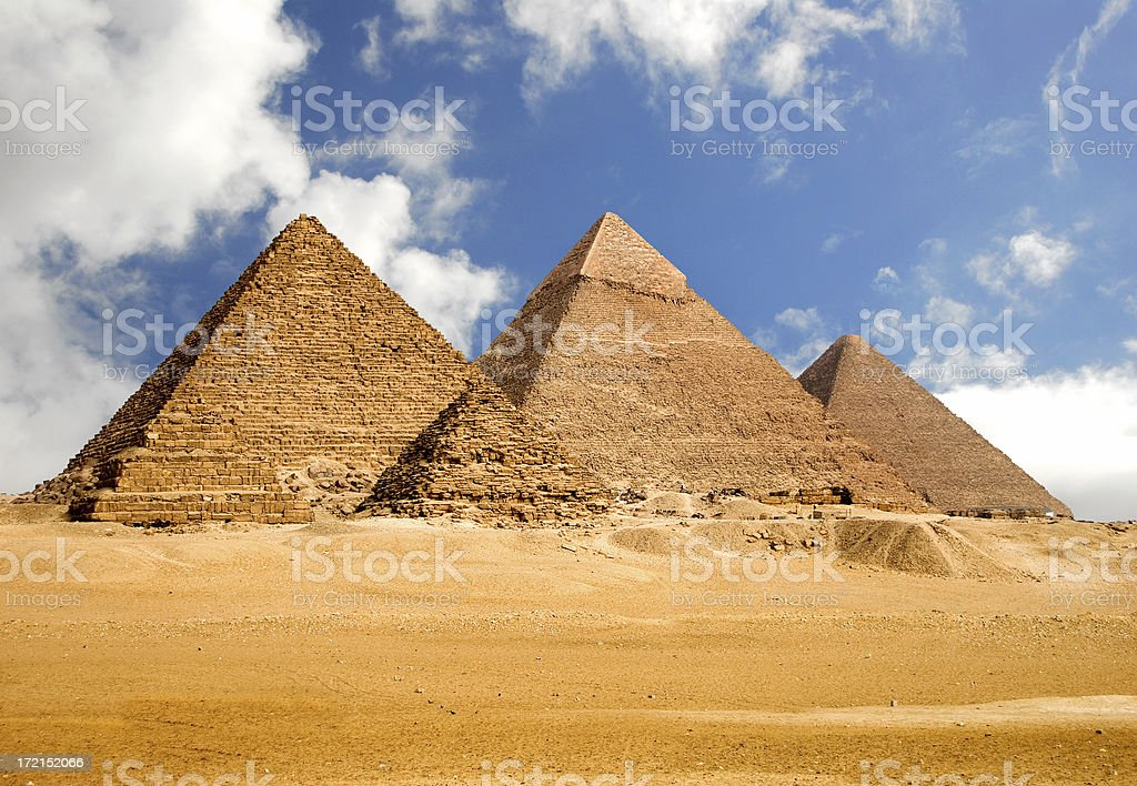 Amazing Giza Pyramids stock photo