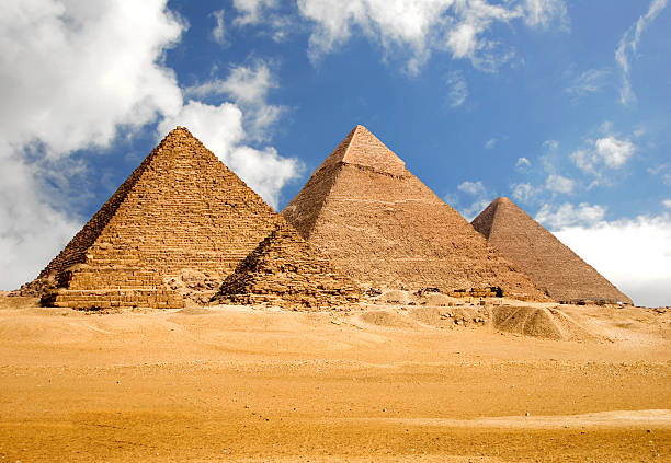 amazing giza pyramids - pyramid stock photos and pictures