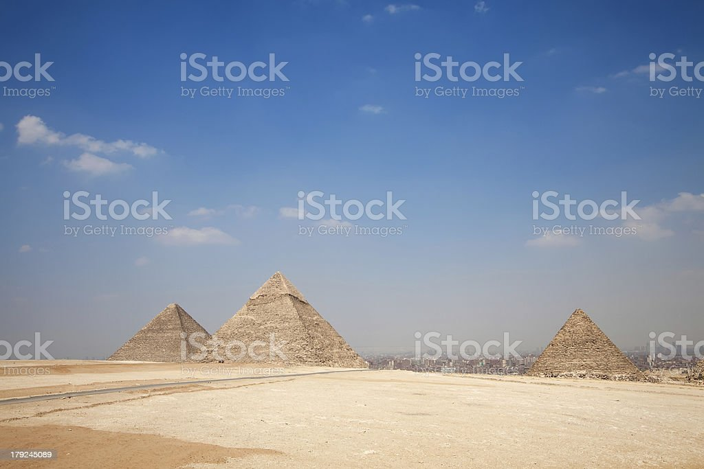 Amazing Giza Pyramids royalty-free stock photo