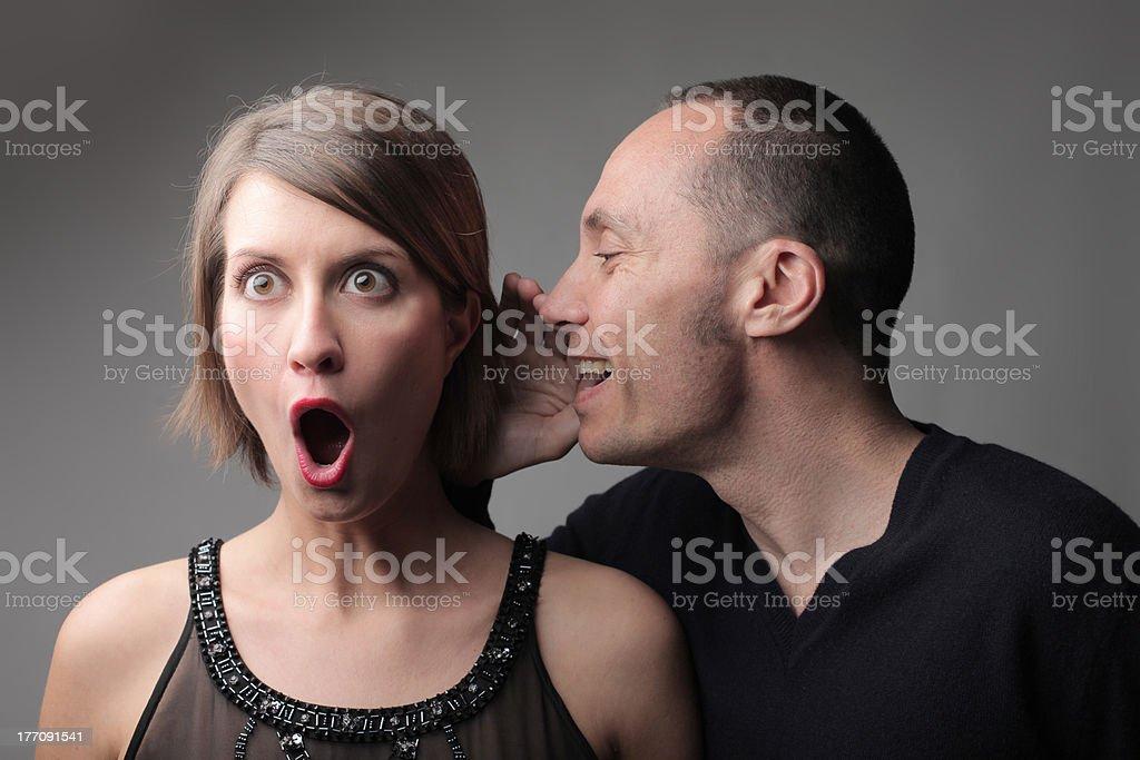Amazing gossip stock photo