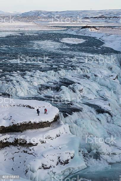 Photo of Amazing Gullfoss waterfall in winter