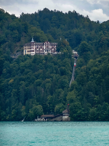 istock Amazing Hotel Giessbach on Lake Brienz near interlaken 1029127528