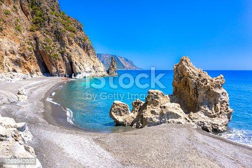 Amazing Kalogeros beach near Agia Roumeli, Chania, Crete, Greece.
