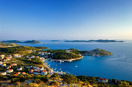 istock Amazing Kornati islands of Croatia. Northern part of Dalmatia. Sunny detail of seascape from Zadar to Sibenik. 1002021916