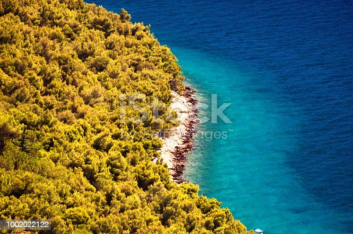 istock Amazing Kornati islands of Croatia. Northern part of Dalmatia. Sunny detail of seascape from Zadar to Sibenik. 1002022122