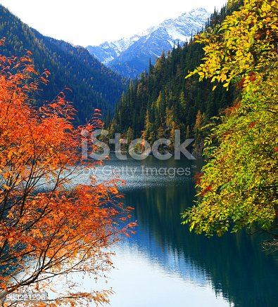 Amazing Lake in Autumn Colours