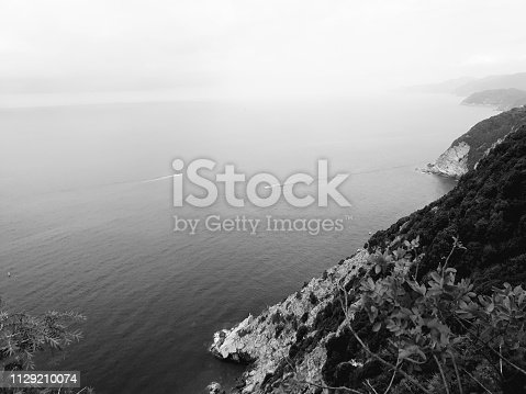 istock Amazing lakes and rivers in black and white background 1129210074