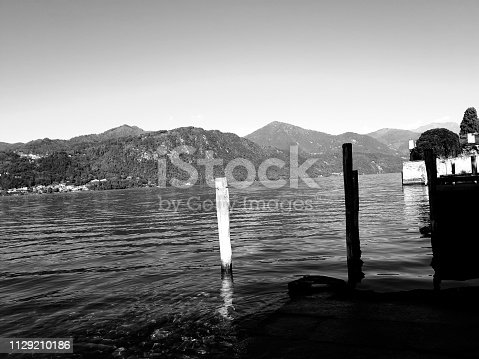 istock Amazing lakes and rivers in black and white background 1129210186