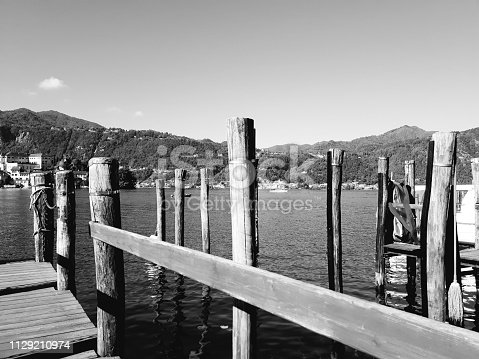 istock Amazing lakes and rivers in black and white background 1129210974
