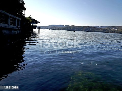 istock Amazing lakes and rivers in black and white background 1129210999
