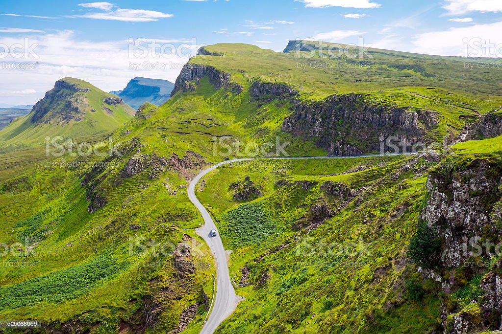 Amazing landscape in Scotland stock photo