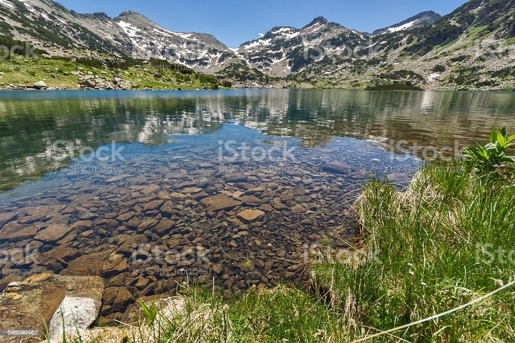 Amazing landscape of Demirkapiyski chuki and Dzhano peaks, Popovo lake royalty-free stock photo