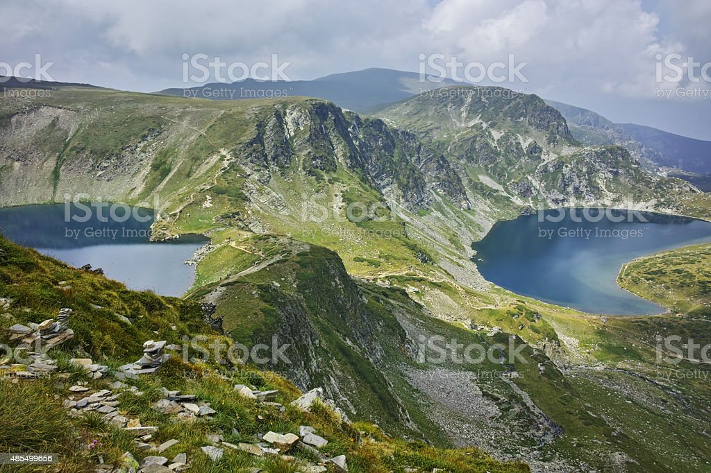 amazing Landscape of The Eye and The Kidney lakes stock photo