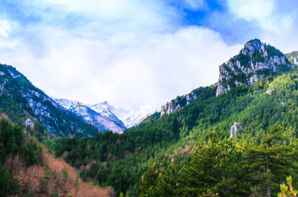 Amazing landscape on Mount Olympus. stock photo