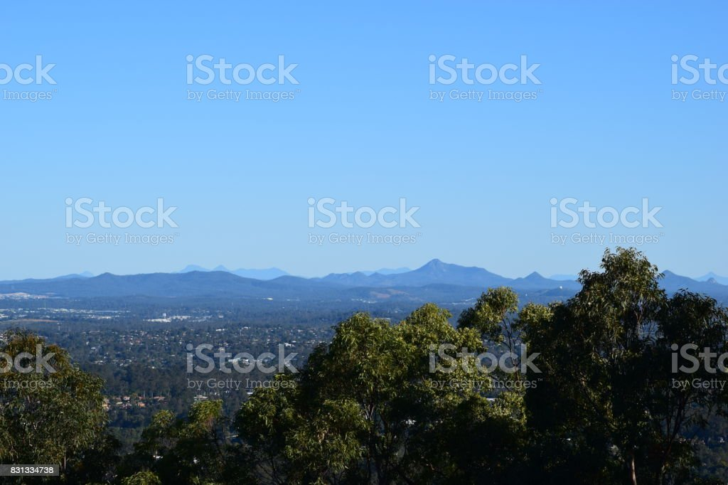 Amazing landscape view from Brisbane lookout stock photo