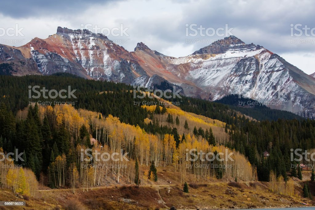 Amazing landscapes of San Juan national forest in Colorado, USA royalty-free stock photo