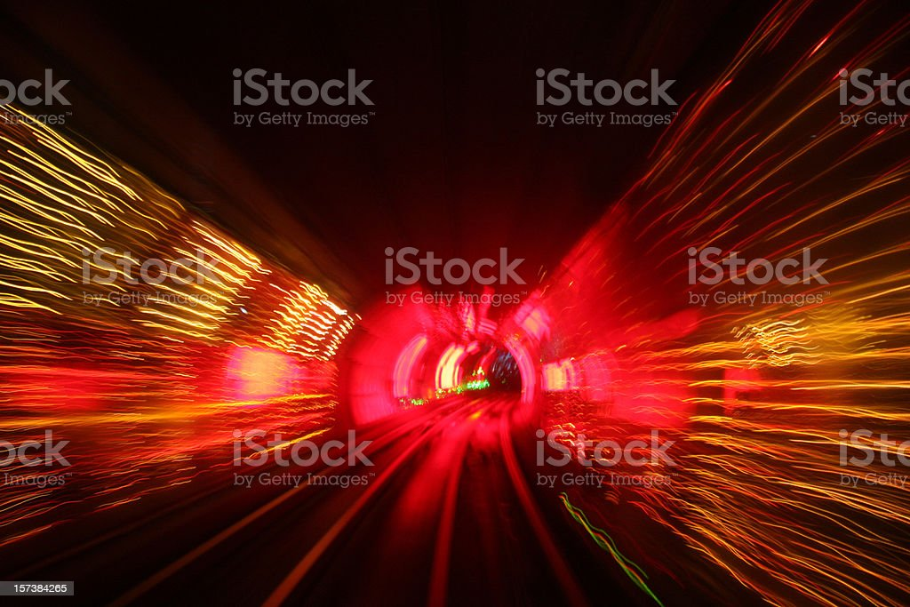 Amazing Lights in Tunnel