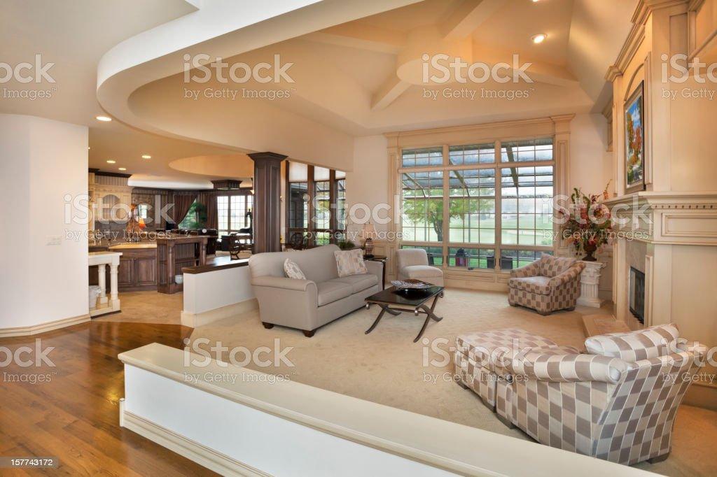 Amazing Living Room, Open Concept Interior Design stock photo