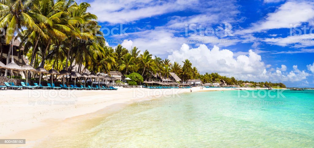 Tropical Island Beach Ambience Sound: Amazing Long White Sandy Beaches Of Mauritius Island