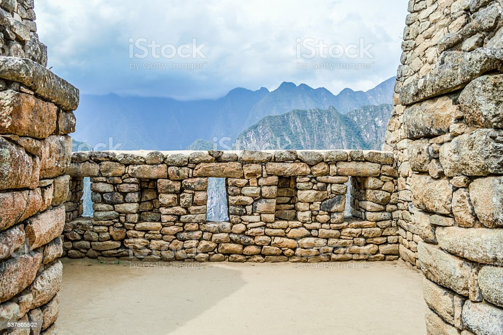 Amazing Machu Picchu Background With Copy Space stock photo