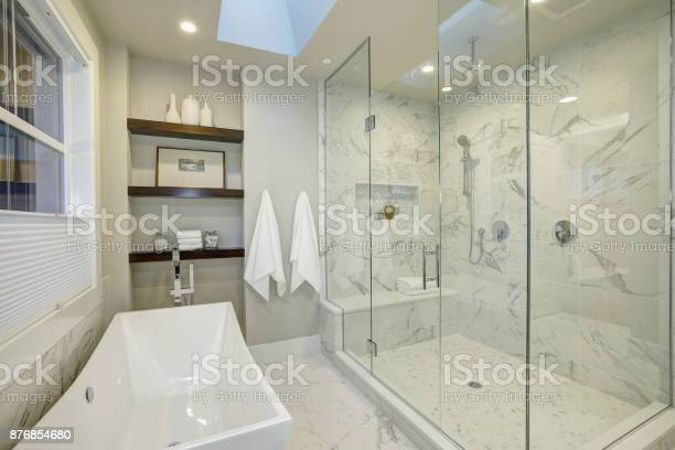 Amazing master bathroom with large glass walkin shower picture id876854680?b=1&k=6&m=876854680&s=612x612&h=gjp4o16jdj 0lmhfucfqiwiasicarw4df yjpgv bkw=