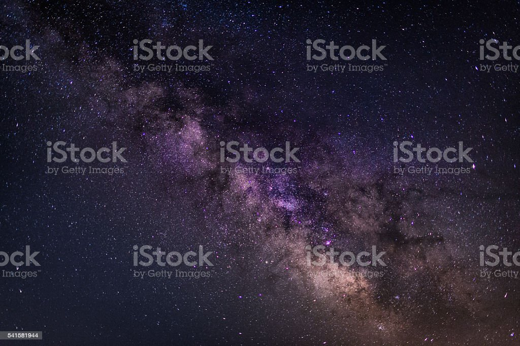 Amazing Milky Way Galaxy background -stock image stock photo