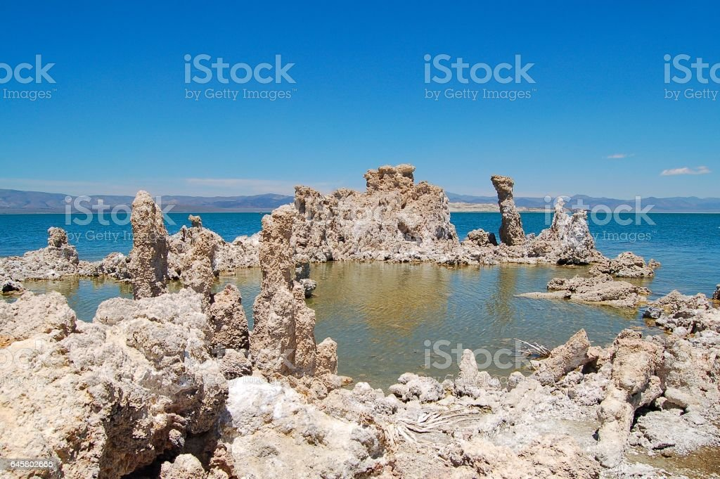 Amazing Mono Lake Tufa State Park in the western part of the USA stock photo