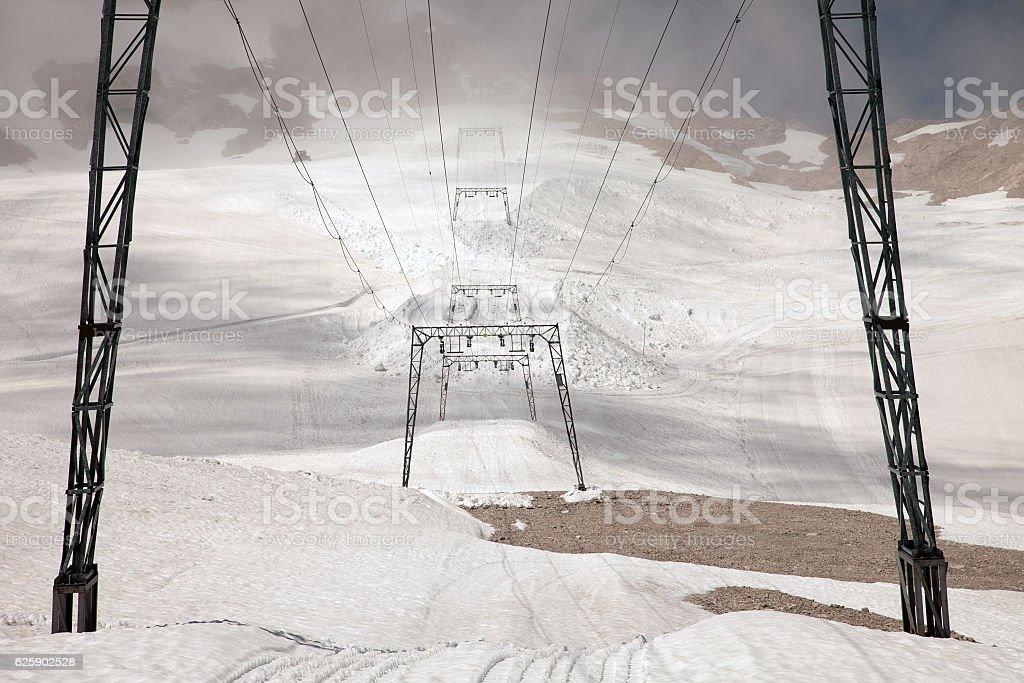 Amazing mountain views from Zugspitze, Germany stock photo
