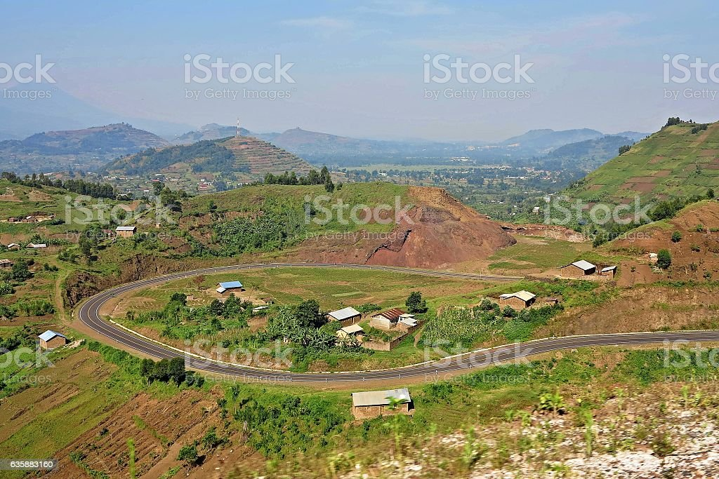 Amazing nature in african congo stock photo