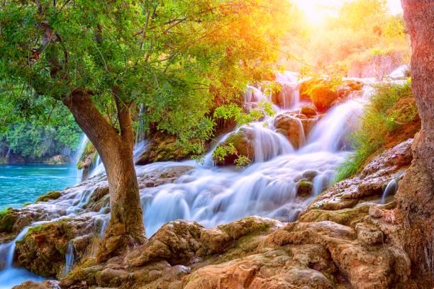 Erstaunliche Naturlandschaft, Wasserfall Skradinski buk, Nationalpark Krka, Kroatien – Foto