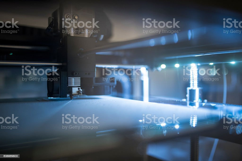 Amazing new 3D technology stock photo