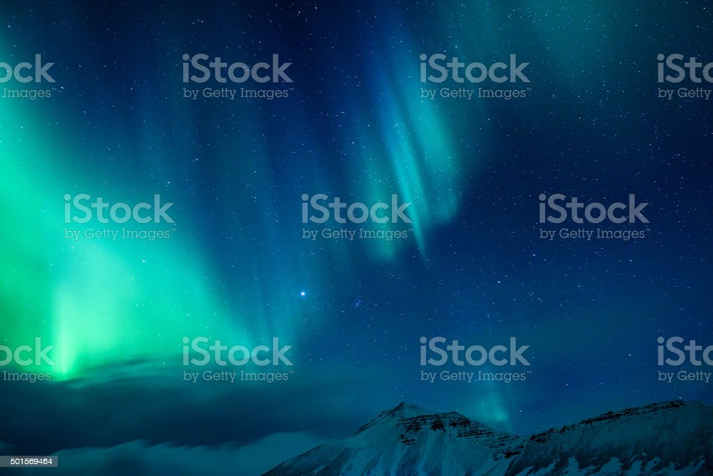 Amazing Northern light stock photo