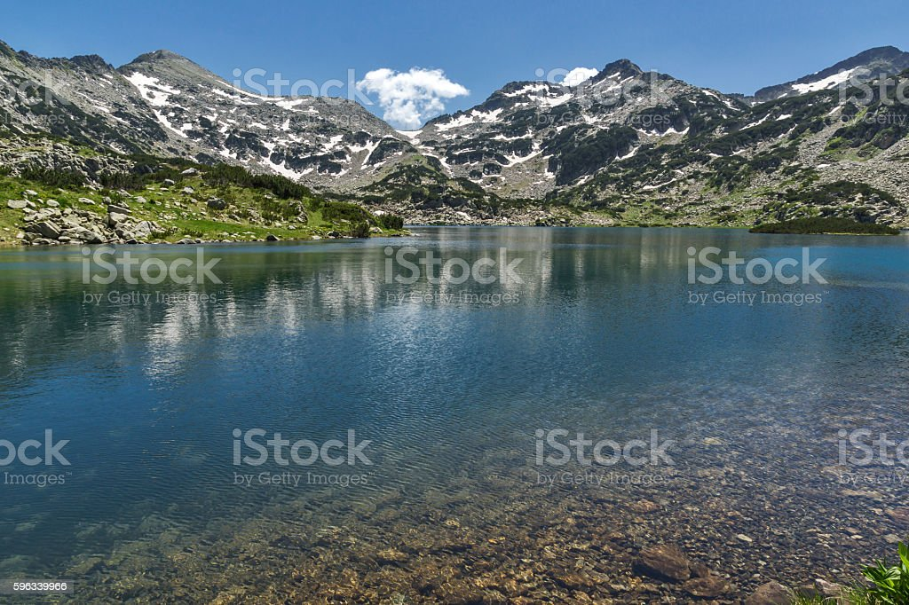 Amazing Panorama of Demirkapiyski chuki and Dzhano peaks, Popovo lake royalty-free stock photo