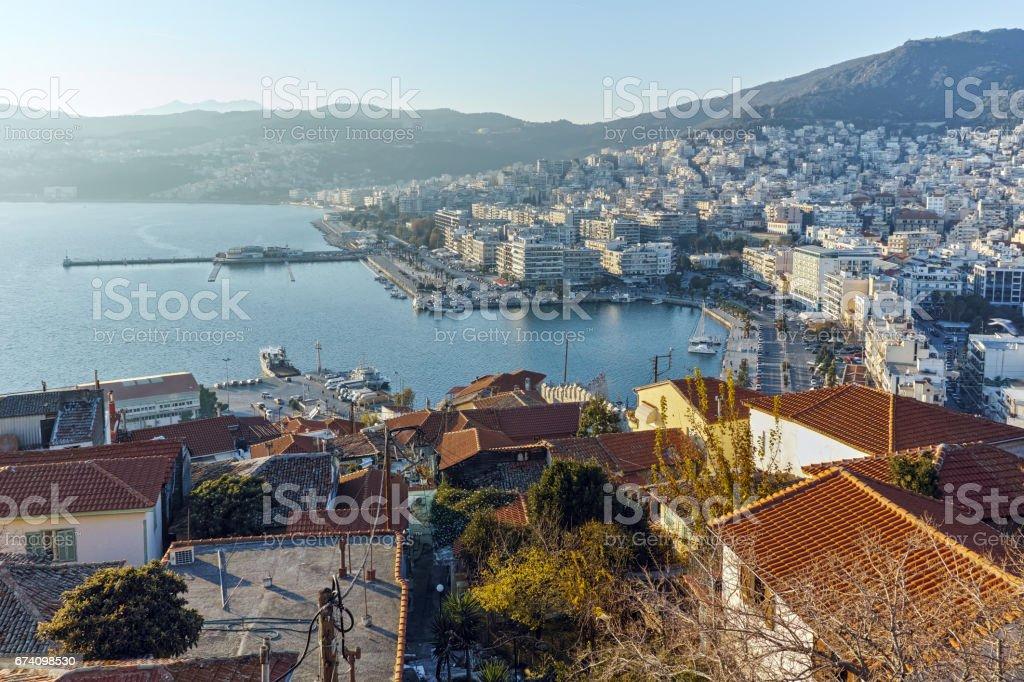 Amazing Panorama to Kavala, Greece royalty-free stock photo