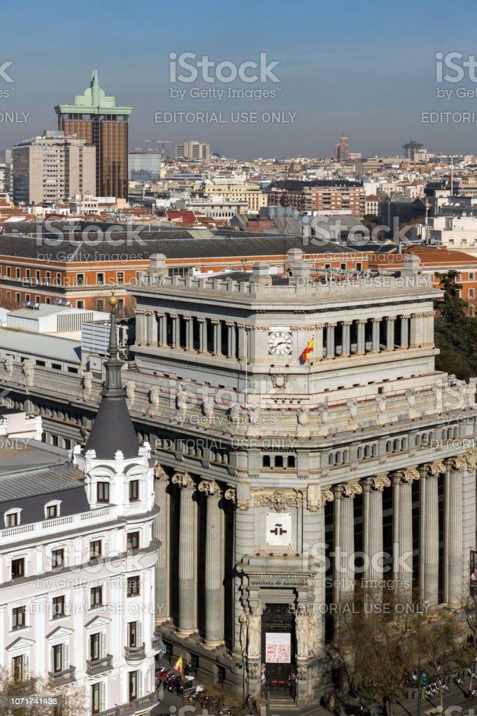 Impresionante Vista Panorámica De La Ciudad De Madrid Desde