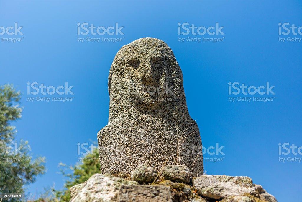 Amazing prehistoric statues in the Corsica hills - 2 Стоковые фото Стоковая фотография